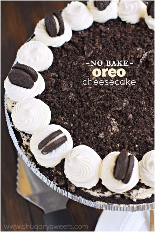 Creamy and flavorful pie: No Bake Oreo Cheesecake!!http://bit.ly/2gesUtd