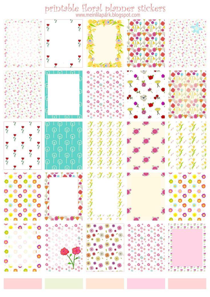 FREE printable floral EC planner stickers | #ErinCondren #plannerstickers
