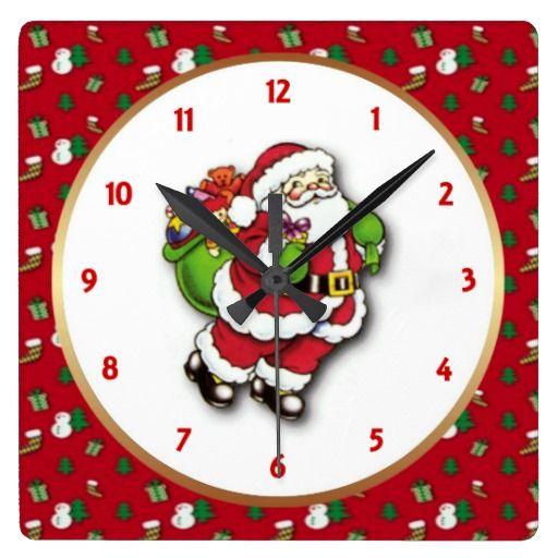 Santa Wall Clock by elenaind