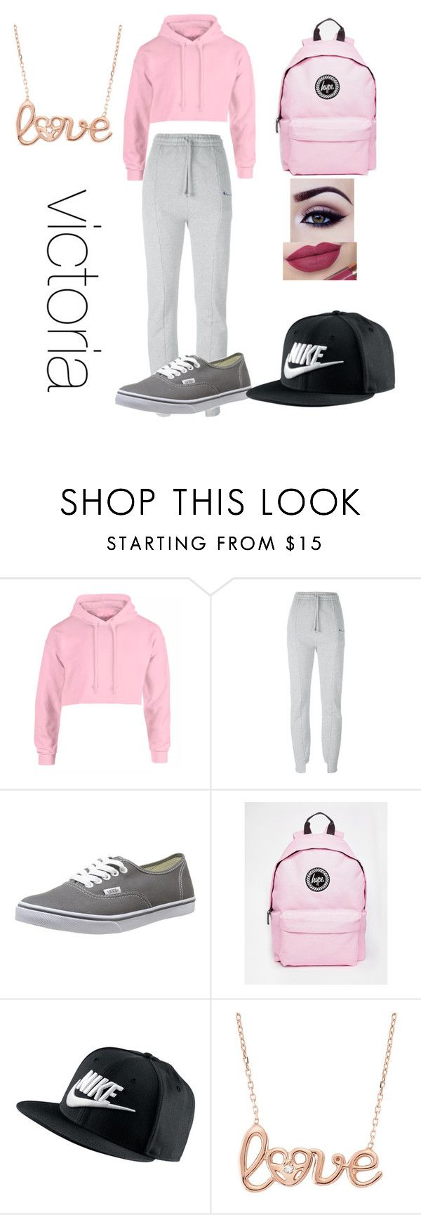 """wattpad story outfit"" by lauraederveen on Polyvore featuring Vetements, Vans, Hype, NIKE, Nicki Minaj, women's clothing, women, female, woman and misses"