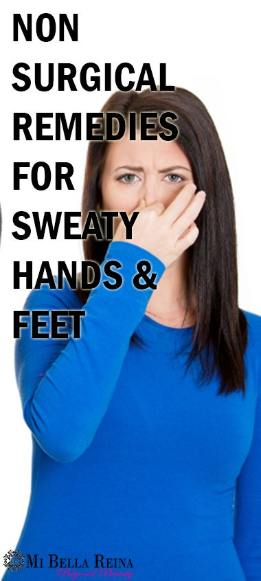 Not only are sweaty hands and feet embarrassing; but it gets worse when you are stressed. Figures! This condition known as hyperhidrosis or excessive sweating (perspiring). Now there is even a surgery to fix it, but what are other ways to control it without the knife?