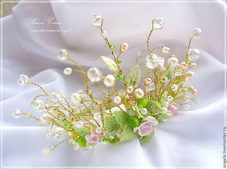 Купить Корона для феи цветов - прическа невесты корона, корона прическа невесты #Wedding #Headpiece #Ideas