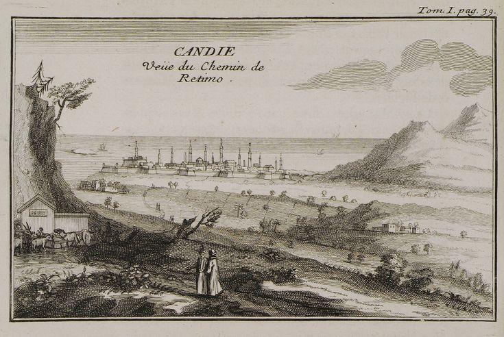 1717 Άποψη του Ηρακλείου από τον δρόμο του Ρεθύμνου. - TOURNEFORT, Joseph Pitton de - ME TO BΛΕΜΜΑ ΤΩΝ ΠΕΡΙΗΓΗΤΩΝ - Τόποι - Μνημεία - Άνθρωποι - Νοτιοανατολική Ευρώπη - Ανατολική Μεσόγειος - Ελλάδα - Μικρά Ασία - Νότιος Ιταλία, 15ος - 20ός αιώνας