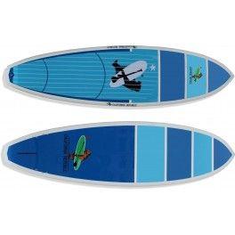 """San Marino 8'6"""" x 31"""" x 5""""  Modelo para Sup Surf, com boa flutuação e estabilidade.   Bico estreito, rabeta square, fundo com v-bottom e double concave, válvula de controle de pressão e setup para 5 quilhas encaixe fcs sendo que a central para quilhão.  Prancha ideal para ondas, pessoas de até 90kg de nível intermediário a avançado.  *Acompanha deck personalizado em EVA e jogo de quilhas - See more at…"""