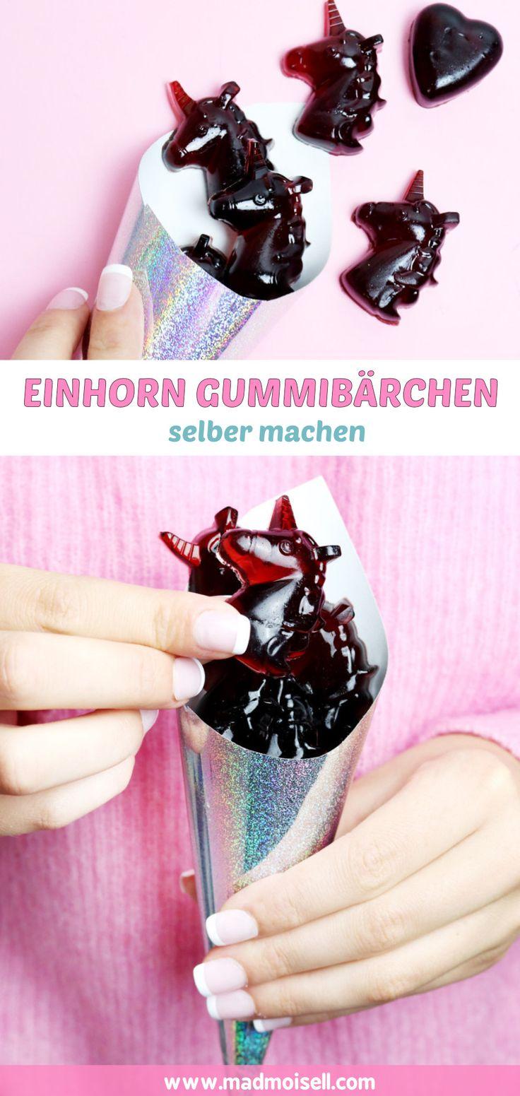 inhorn Gummibärchen selber machen: Super einfaches Rezept! Sind diese selbstgemachten Einhorn Gummibärchen nicht der Hammer? Ich hätte wirklich NIE gedacht, dass man Gummibärchen so einfach selber machen kann… aber seht selbst: Es funktioniert!
