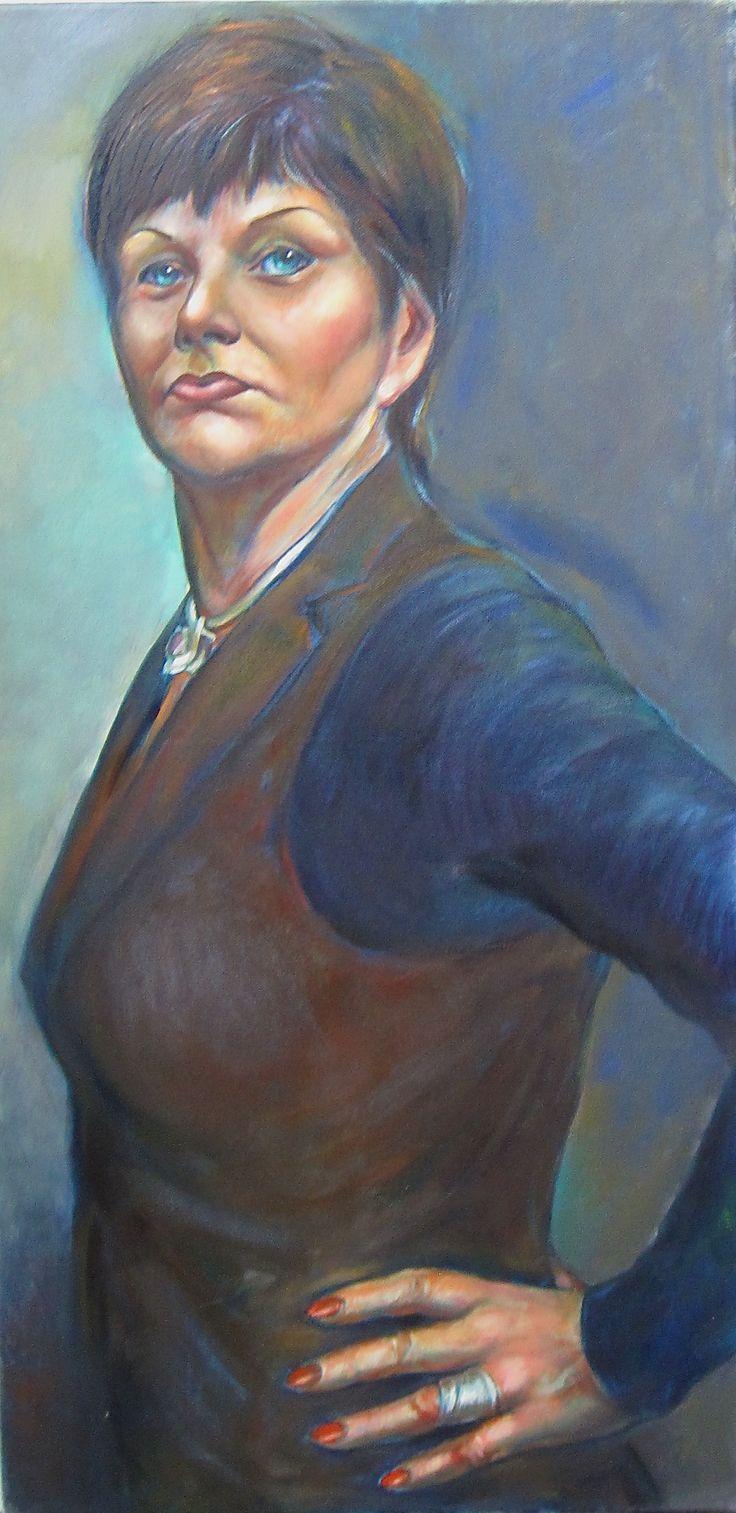 Olga Vinnitskaya. Wasservermischbare Ölfarbe Cobra von Royal Talens auf Leinwand.