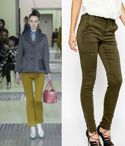 Pantaloni verdi Prada e Vero Moda