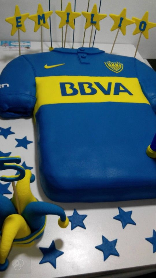 torta camiseta boca juniors