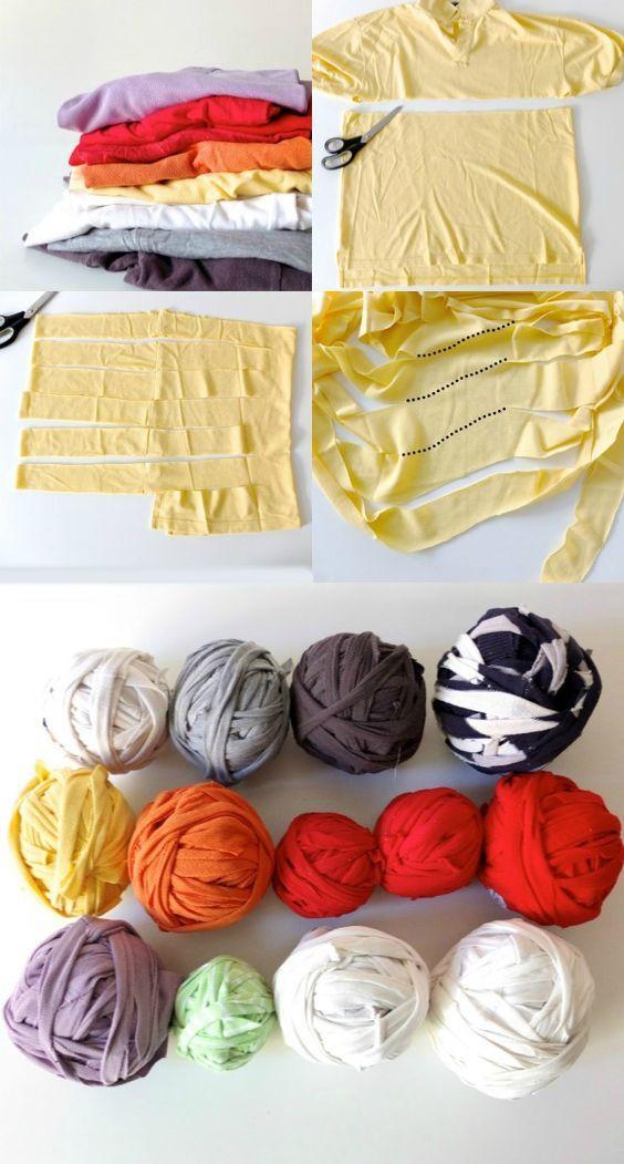 ヨレヨレだったり虫食いだったり、デザイン的にもう着ないかも…どうしても出てくるそんなTシャツ。捨てずに雑巾として活用するアイデアは鉄板ですが、【Tシャツヤーン】を作ってみてはいかがですか?雑巾と同じくハサミで切り刻むだけですが、糸にすることでよりクリエイティブに楽めます。