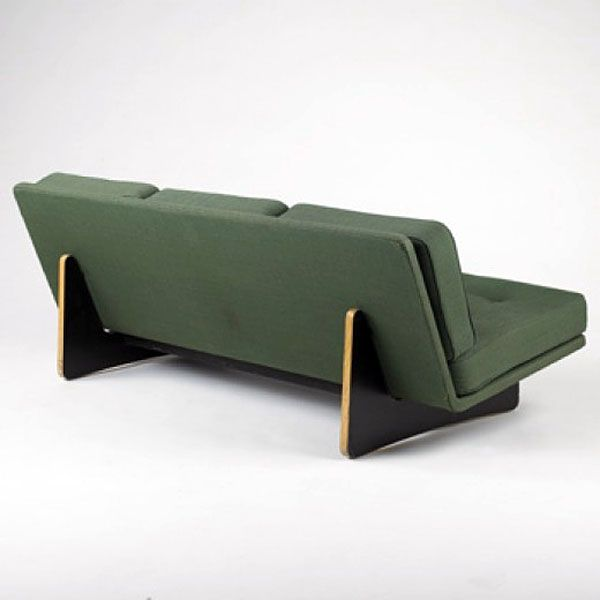 painted plywood sofa KHO LAING LI sofa Artifort France, 1960 plywood, upholstery
