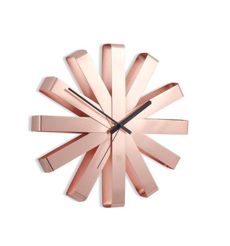Ribbon Wall Clock - Copper  Umbra