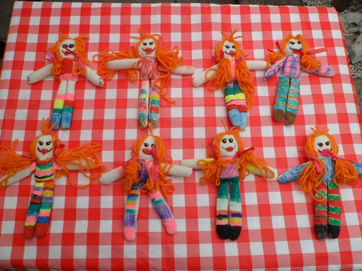 Craftproject kidsparty... Diy Pippi Longstockings!