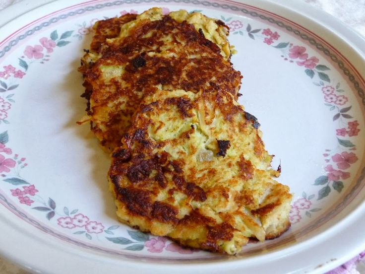"BARBO'S LOW-CARB ""POTATO"" LATKES   Tasty little pancakes similar to real potato pancakes.  This is the brainchild of my friend, Barba..."