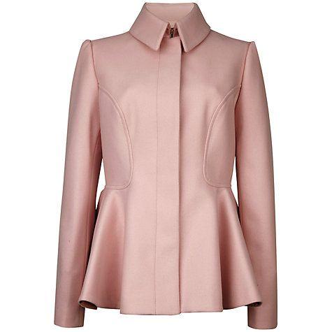 Ted Baker Sollel Peplum Detail Coat, Nude Pink