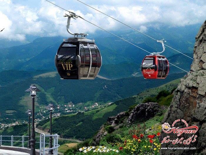 Heyran Gondola lift (Télécabine) - part of the Heyran Tourist Village - Astara - Ardebil Road - Gilan Province - Iran