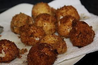 Familiar with McGuire's Irish Pub's Boxtys? Garlic mashed potatoes hand rolled in herbed bread crumbs and flash fried. Here's the recipe...YUMMY!