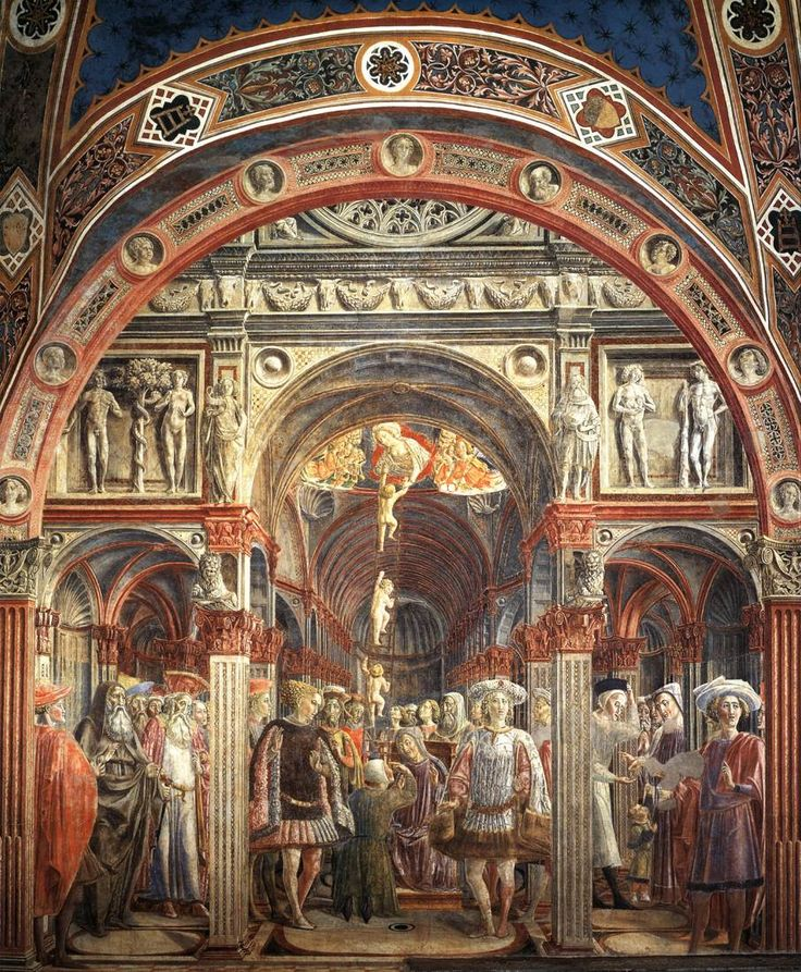 Веккьетта. The Vision of St Sorore. 1441 г. Fresco. Pellegrinaio, Spedale di Santa Maria della Scala, Siena.