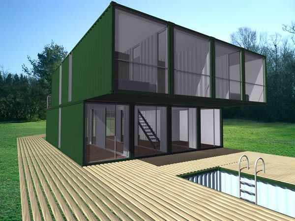 CHK CONTAINER HOME KIT CHK, Container Home Kit, combines multiple shipping  containers to build modern, intelligent and affordable homes. 40-foot-l