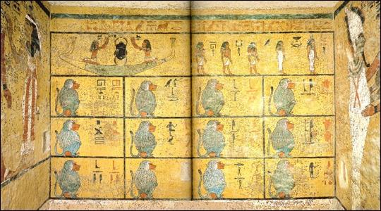 Art On The Walls Inside Of King Tut S Tomb King Tut