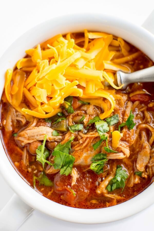 Crockpot Pulled Pork Chili