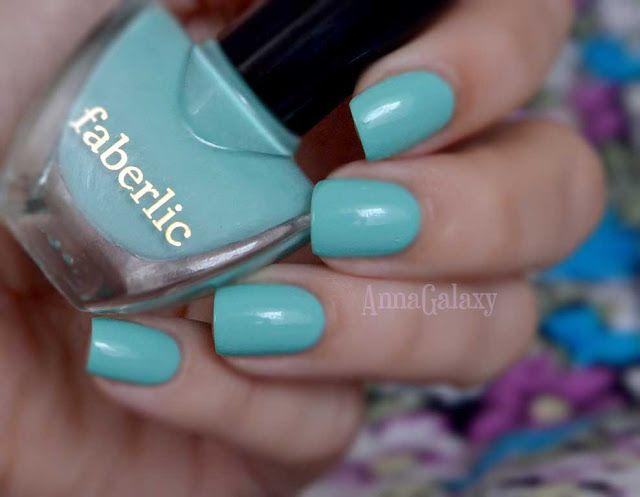 Anna Galaxy: Faberlic. Лак для ногтей CC 9 в 1 Умный цвет 7364 мятный леденец
