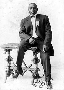 "Sam Langford (March 4, 1883 - January 12, 1956) was a Black Canadian boxing standout of the early part of the 20th century. Called the ""Greatest Fighter Nobody Knows,"" by ESPN,he was rated #2 by The Ring on their list of ""100 greatest punchers of all time."" Langford was originally from Weymouth Falls, a small community in Nova Scotia, A good friend of mine is a distant cousin of his!"
