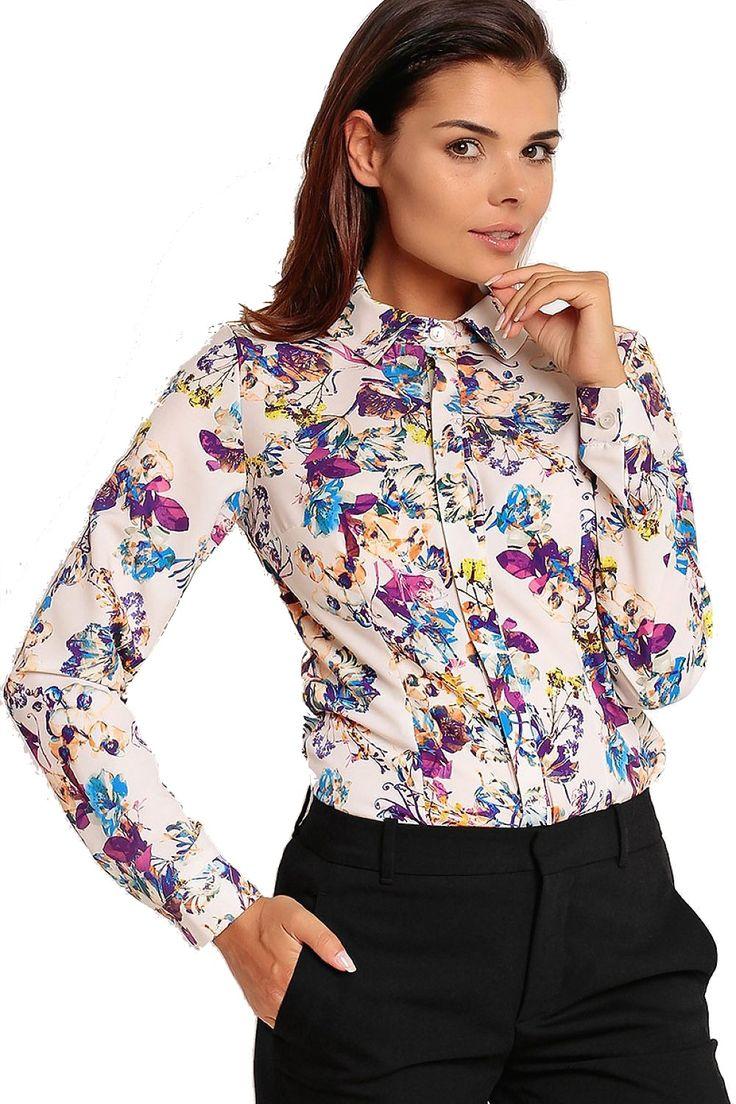 Nádherná Kvetinová Košeľa Karen Styl H58