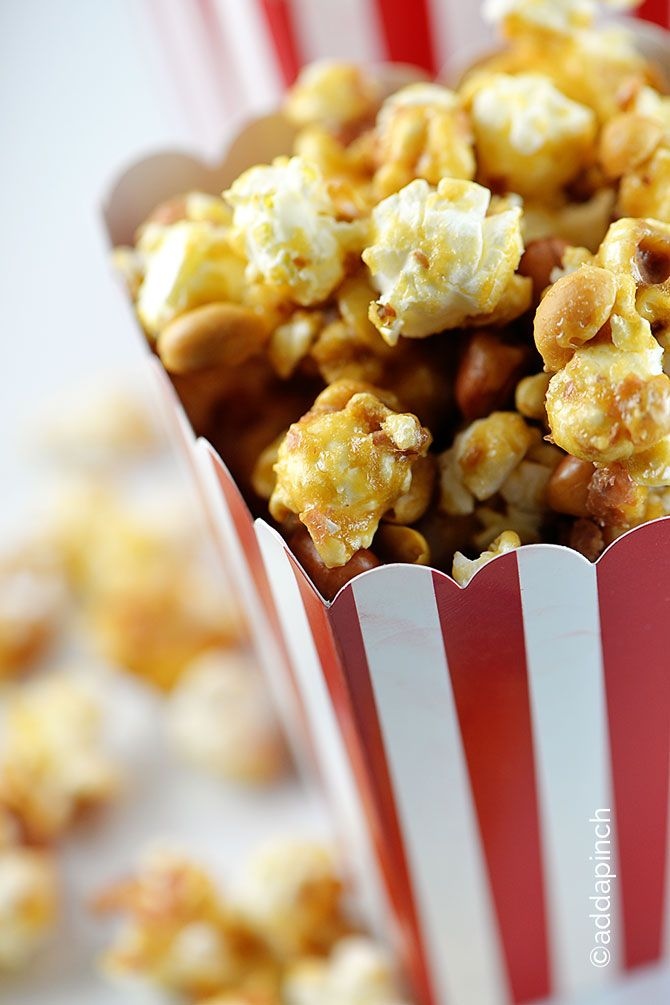 Homemade Cracker Jacks // total perfection for movie nights via Robyn Stone, Add a Pinch #snackattack #heaven #popcorn