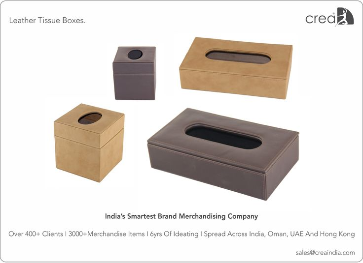 Leather Tissue Boxes for corporates by Crea - India's smartest brand merchandising company.