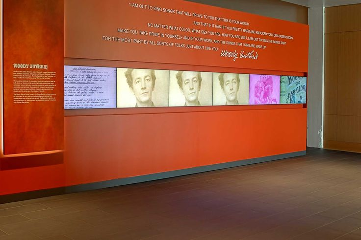 Museum-goers of all ages are enticed into the center to learn about Woody Guthrie as a result of its extensive use of technology, including several arrays of advanced displays from Planar Systems.