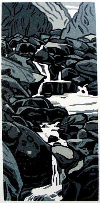 Coyote Atelier printmaking inspiration: Ann Lewis - Syrthio, sythio (falling falling)