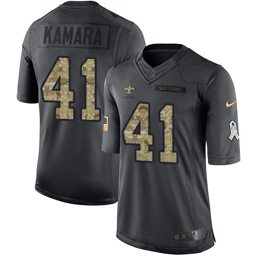 Youth Nike New Orleans Saints #41 Alvin Kamara Limited Black 2016 Salute to Service NFL Jersey