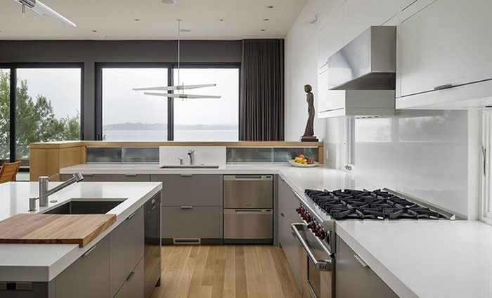 Modern Kitchen Island Hood