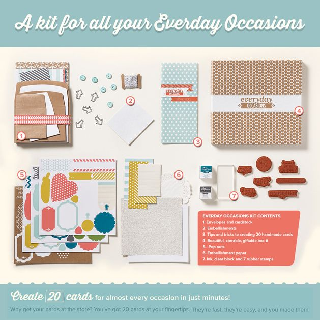 So in love with the new Everyday Occasions card kit!: Cards Ideas, Everyday Occa, Cards Kits, Cardmaking Kits, Website, Occa Kits, Occa Cardmaking, Occa Cards, 20 Cards