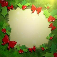Festive Mistletoe Wallpaper for Android #winter #redrawkeyboard