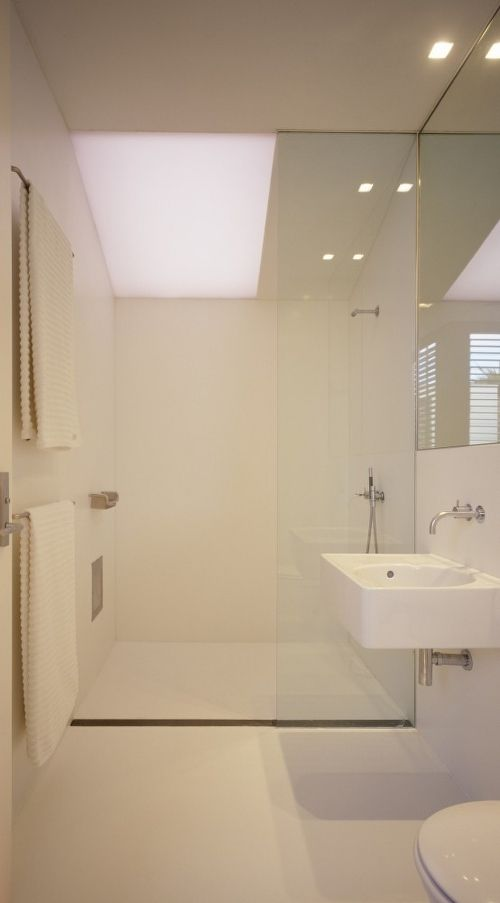 Small and it works - perfect bathroom for the main, we will have a bath in our ensuite :)