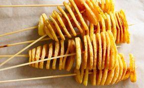 Zakręcone ziemniaki z sosem czosnkowym