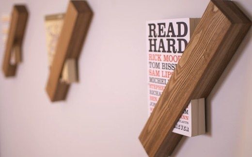 Books on the wall.