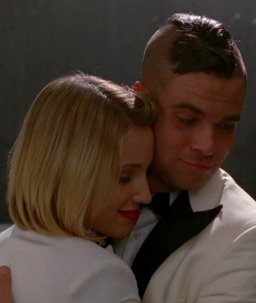 Quick (Puck and Quinn) from Glee. Ya, they're gonna end up together and get married :)