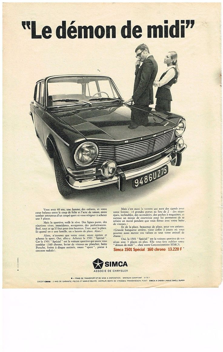 Publicité Simca 1501