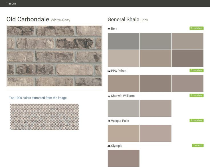 Old Carbondale White Gray Brick General Shale Behr