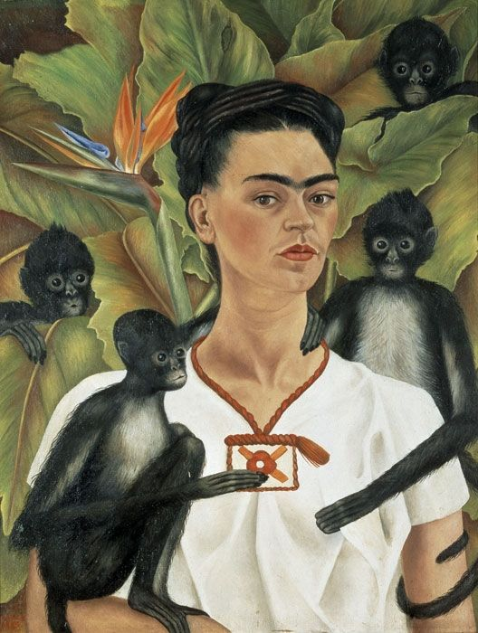 Frida Kahlo. Autoritratto con scimmie, 1943. Olio su tela, cm 81,5 x 63. The Jacques and Natasha Gelman Collection of 20th Century Mexican Art and The Vergel Foundation, Cuernavaca © Banco de México Diego Rivera & Frida Kahlo Museums Trust, México D.F. by SIAE 2014