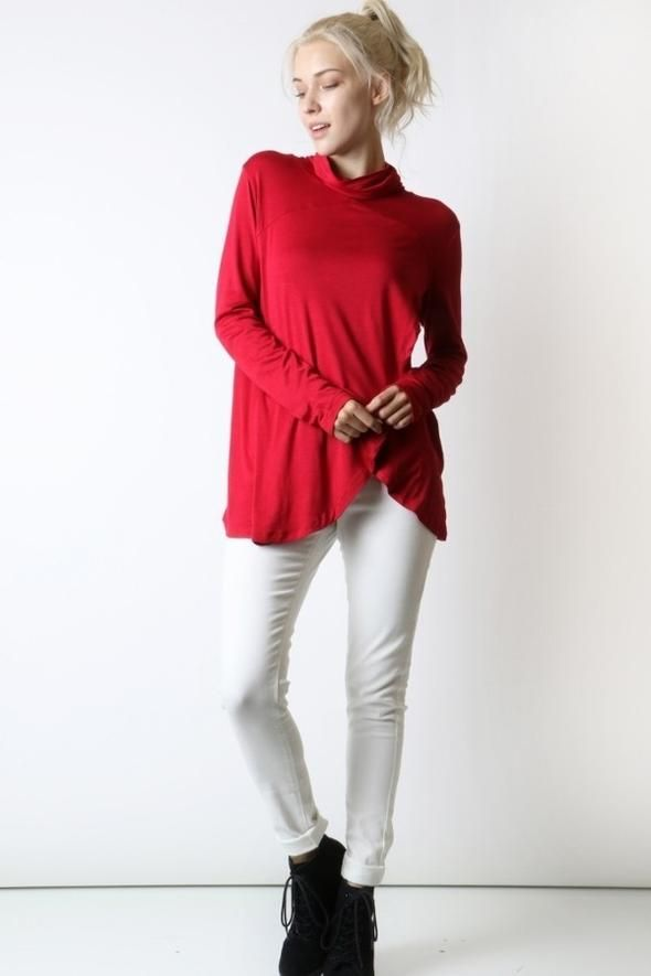 42b9f2820ca Women's Red Top Long Sleeve Shirt New Cute Fashion Tunics – MomMe and More
