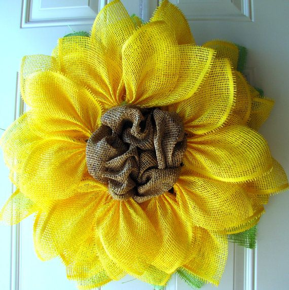 Yellow Sunflower Summer Fun Paper Mesh Indoor by NicoleDCreations