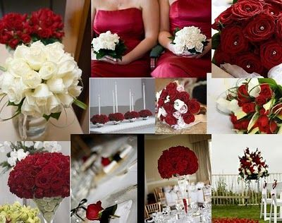 Red And Champagne Wedding Colors
