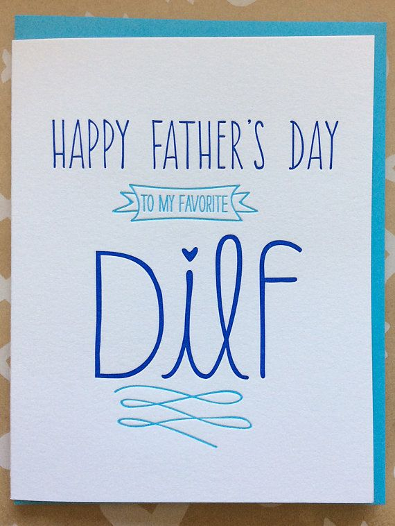 Funny Father's Day DILF card Fun Father's Day card for by jdeluce