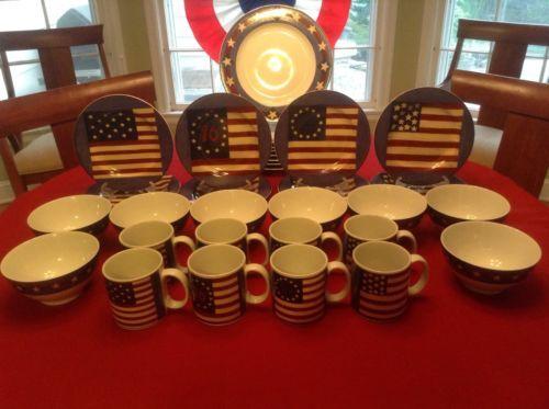 Fundraiser dinnerware! Warren Kimble Brandon House Spirit of the Flag 32-Piece Dinnerware Set & 64 best Warren Kimble images on Pinterest | Digital camera Digital ...