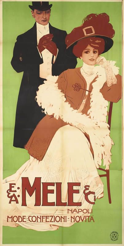 E & A Mele & Ci. Napoli - Mode - Confezioni - Novita by Artist Unknown | Vintage Posters at International Poster Gallery