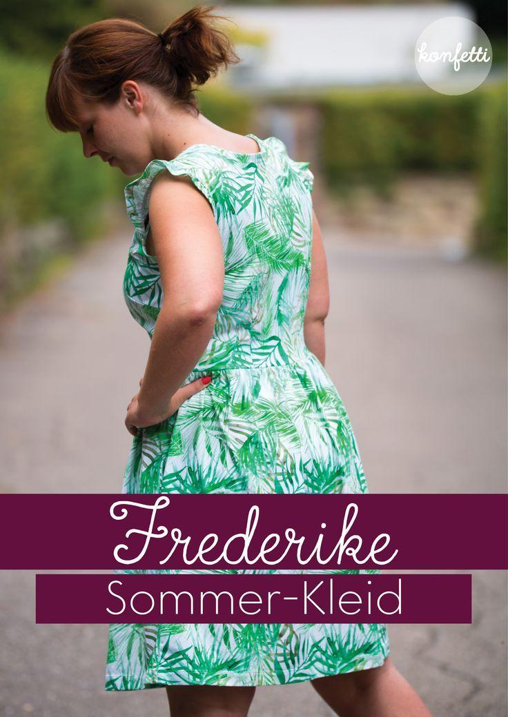 6fe7f7a945a Frederike von Konfetti Patterns ist ein anfängergerechtes Schnittmuster für  ein nicht nur sommerliches Kleid. Hier