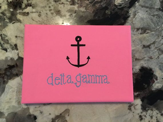 Delta Gamma Anchor Canvas by SeauxSorority on Etsy